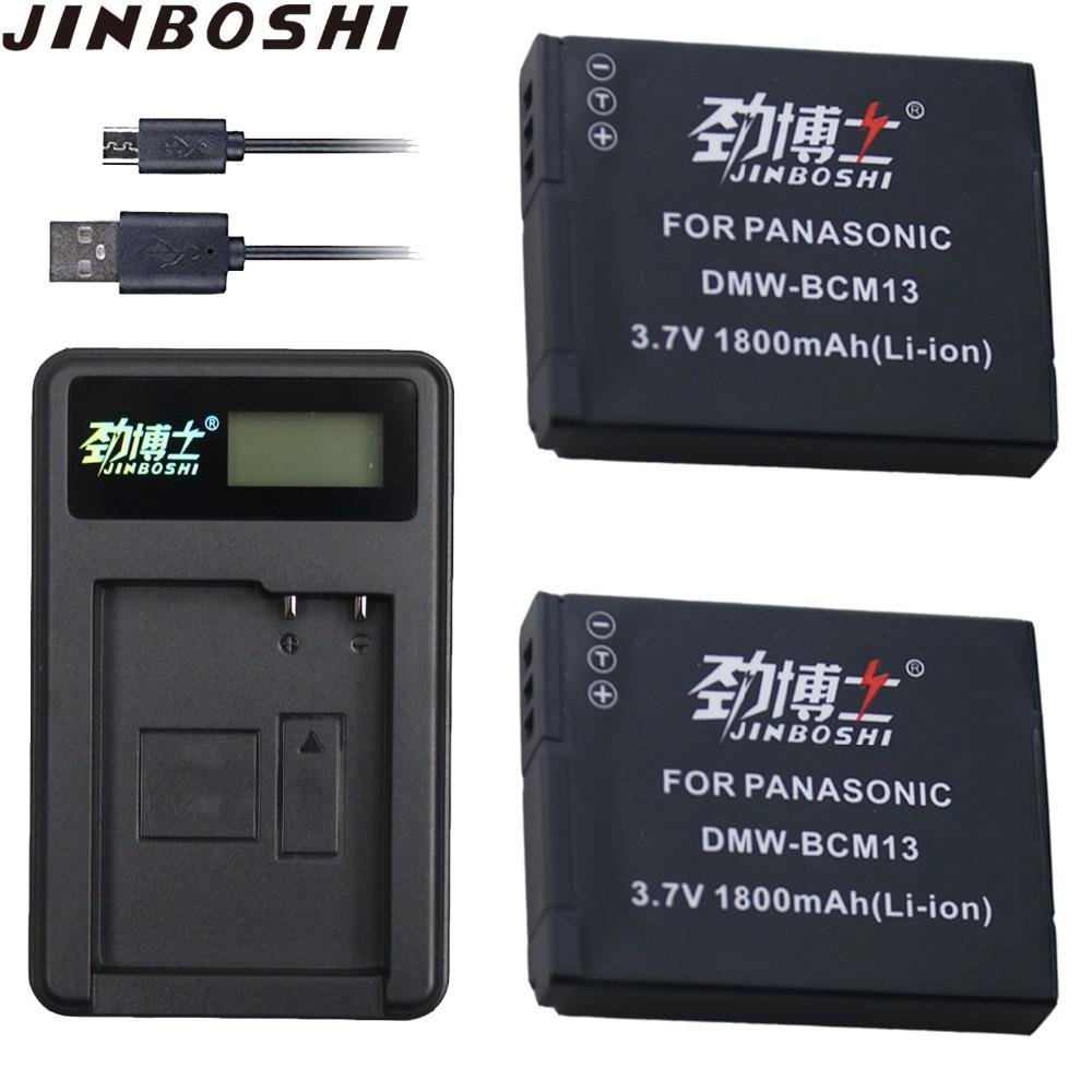 2 piezas DMW-BCM13 DMW BCM13E DMWBCM13 batería + LCD USB cargador único para Panasonic Lumix ZS27, ZS30, ZS35, DMC-ZS40/ZS50, FT5, LZ40, TZ41,