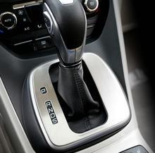 Panneau décoratif pour équipement spécial   ABS chromé, boîtier dautocollants de la tête dengrenage kuga de Ford Escape kuga 2013 2014 2015