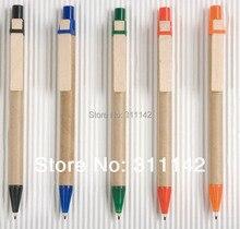Stylo à bille recyclé, stylo papier kraftpaper, stylos papier couleur pro-environnement stylo crochet en bois 1000 pièces livraison gratuite