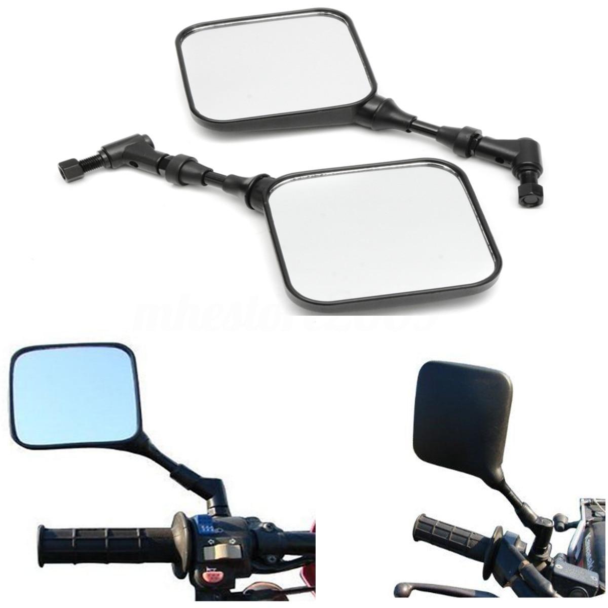 Negro retrovisor para motocicleta espejos Durable portátil ajuste para todos los ángulos para Suzuki 200 DR 250 DR350 DRZ 400 650 DR650