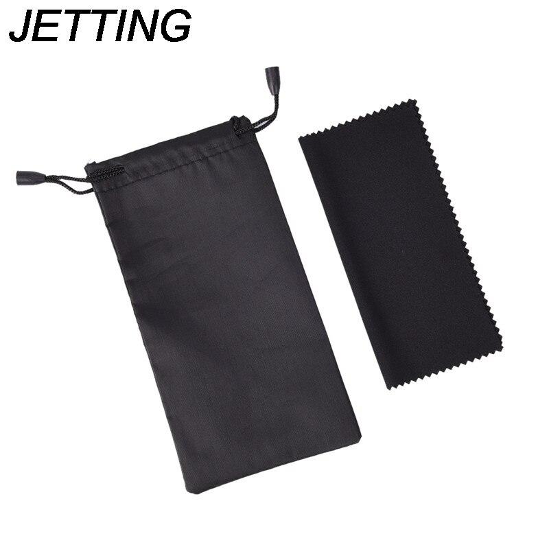 Funda negra de microfibra para gafas de sol, bolsa para gafas de vidrio, bolsa para gafas personalizada, 1 Juego