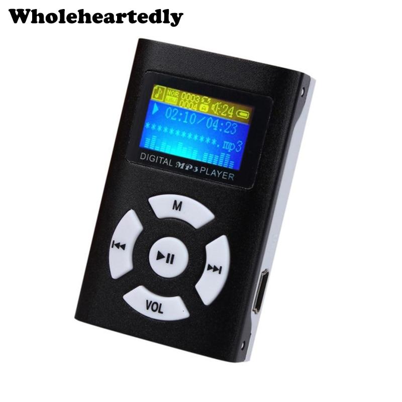 Горячая продажа USB мини MP3-плеер ЖК-экран Поддержка 32 ГБ Micro SD TF слот для карты цифровой MP3 музыкальный плеер наушники и мини USB