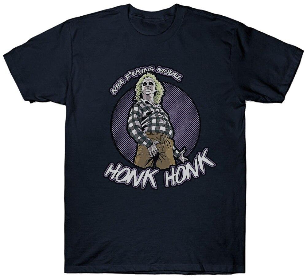 Beetlejuice camiseta Honk eslogan divertido película de Cult película 1980S Classicmen camiseta 2019 verano hombre cuello redondo para hombres camisetas
