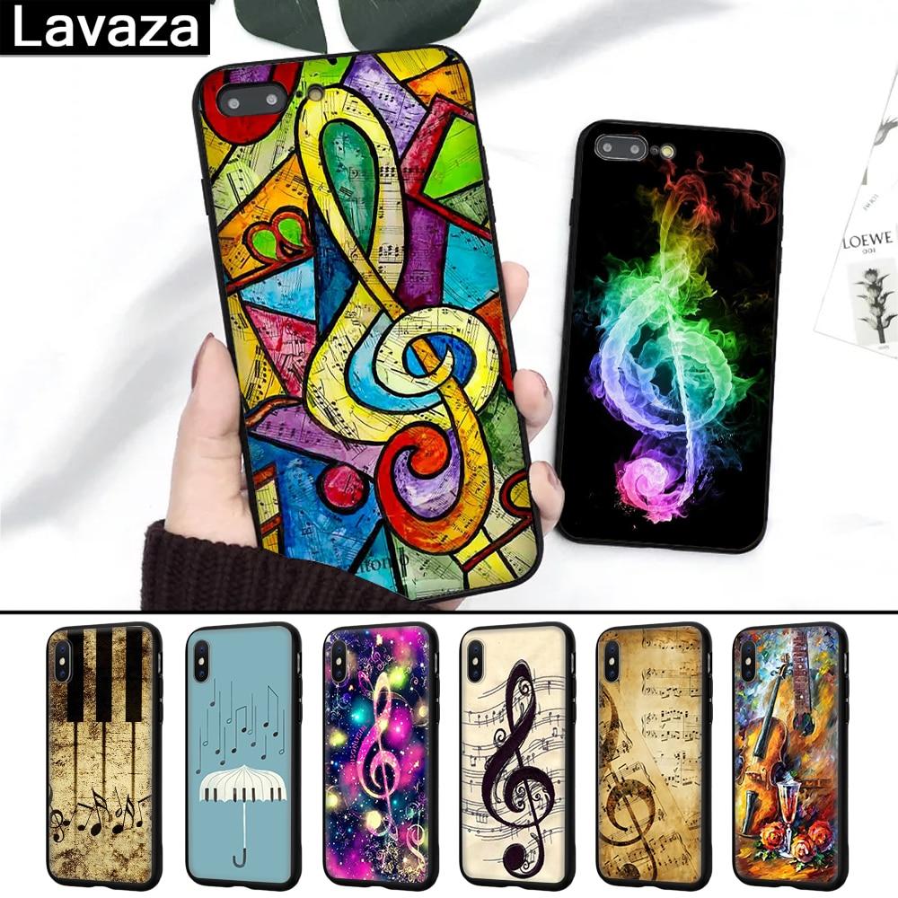 Lavaza alten musical hinweis Musik Silikon Fall für iPhone 5 5S 6 6S 7 8 11 Pro Plus X XR XS Max