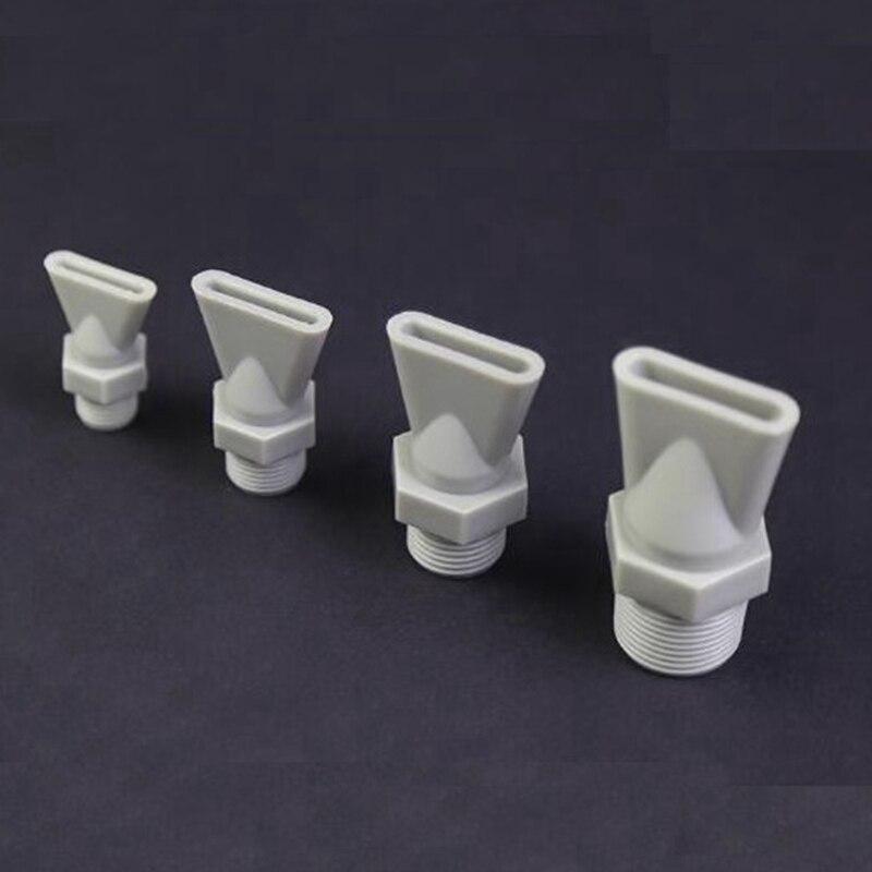 Pulvérisateur en plastique à fil mâle   Buse plate en plastique, bouche de canard, soufflage de poussière de 5 pièces de 1/4