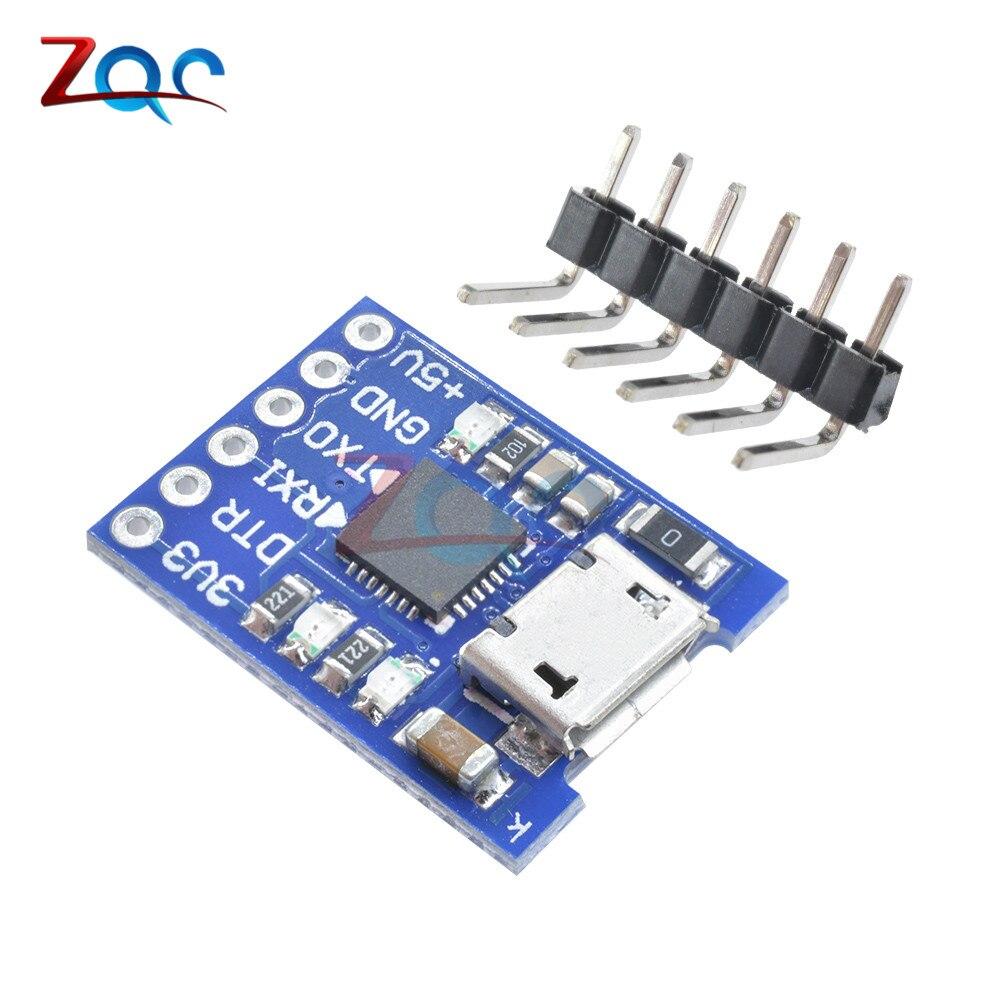 CJMCU CP2102 Micro USB a UART módulo TTL 6Pin convertidor serie UART STC reemplazar FT232 para Arduino Pro Mini ATMEGA328P