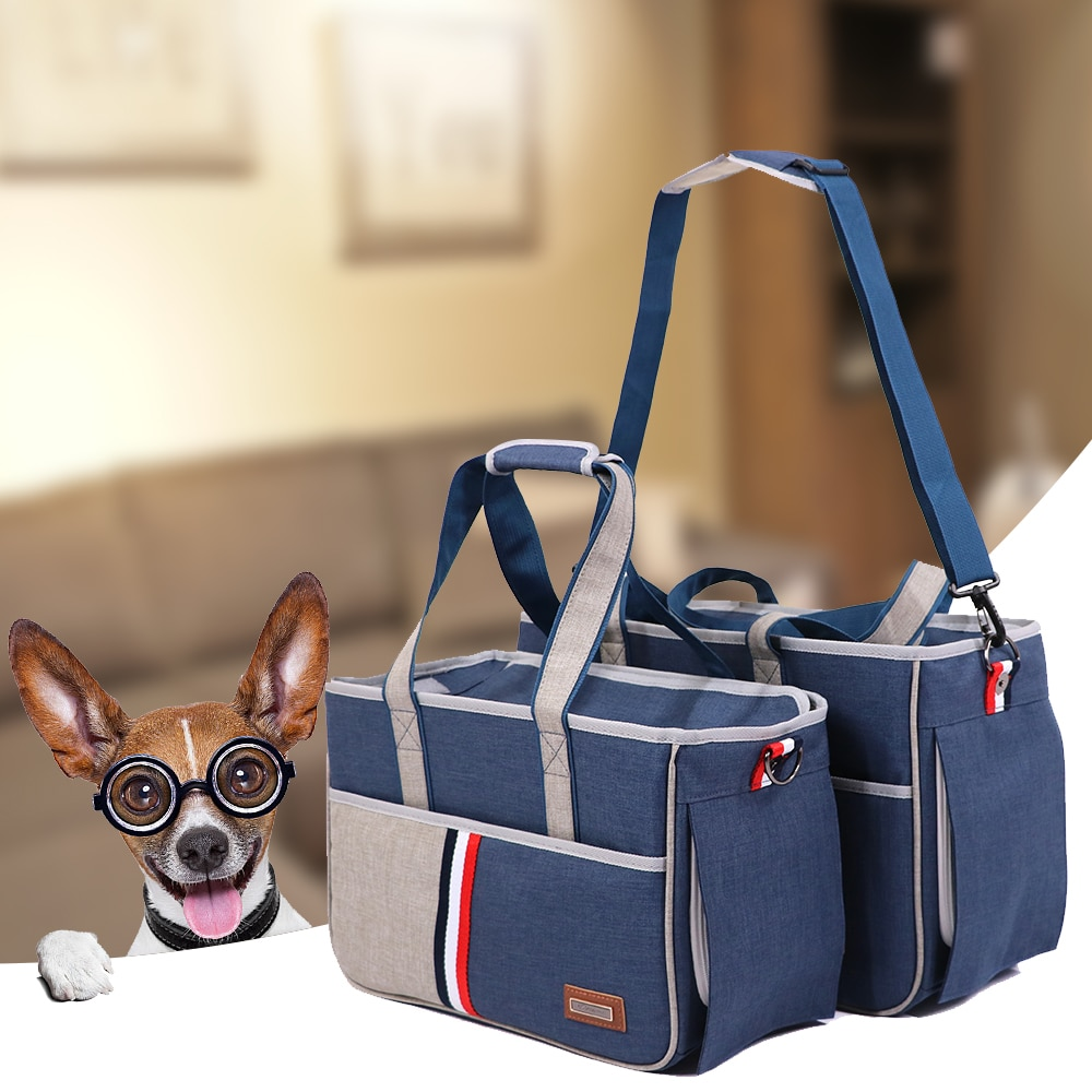 Transportín para mascotas, bolsa para perros y gatos, bolsa de transporte de viaje transpirable, mochila con eslinga, bolso para Chihuahua con animales pequeños