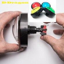 Grand bouton-poussoir dôme 100mm boutons-poussoir darcade lumineux Led 12v bouton-poussoir interrupteur avec Microswitch
