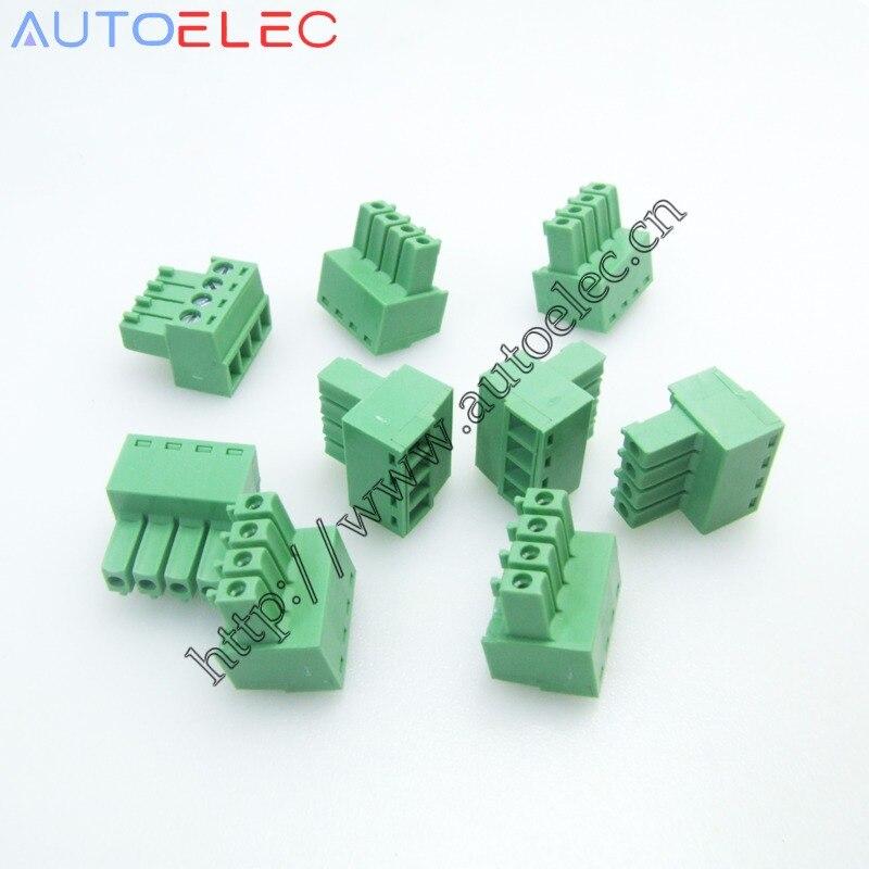 Broches à angle droit/3.5mm PCB   10 jeux de bornes rechargeables et de prise pcb 2/3/4/5/6/7/8/9/10 pôles, broches à angle droit