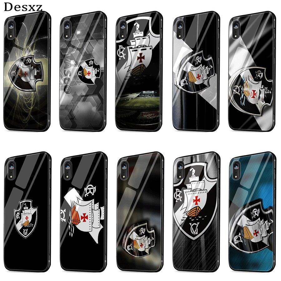 Teléfono Móvil Ca11 De vidrio para iPhone 5 y 5s 11 6s 6 7 8 Plus X XS X Max XR Pro Club De Regatas Vasco Shell