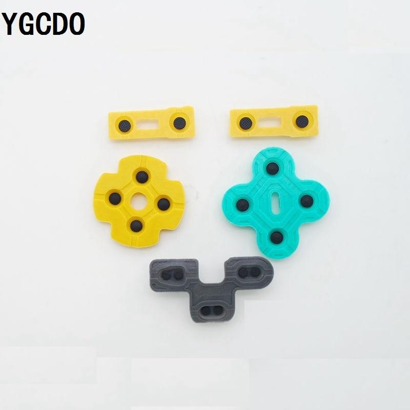 YGCDO, 10 juegos, almohadilla de contacto de goma conductora, botón d-pad para controlador Sony PS2