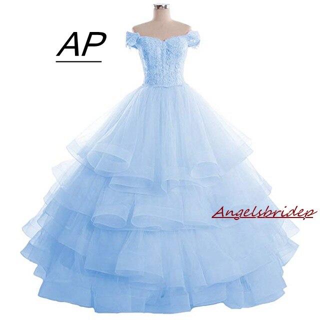 Angelsbrief novo vestido de baile vestidos quinceanera 2020 doce 16 apliques de renda princesa vestido de festa de comprimento total