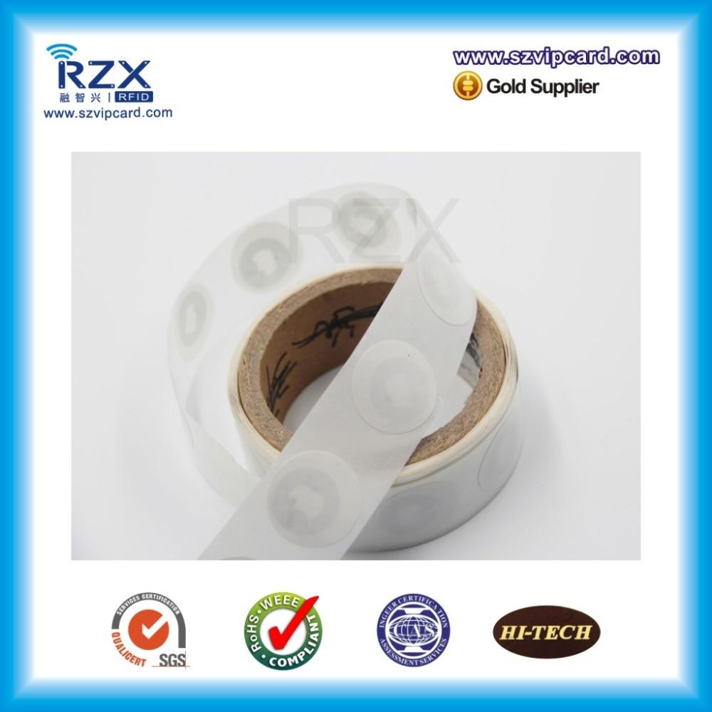 1000 Uds., superficie de papel imprimible, 30mm, 13,56 Mhz, RFID Tag MIFARE, pegatina ultraliviana NFC