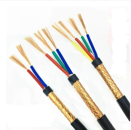Libre shipping4METERS de cobre puro/RVVP/apantallado de alambre/cable de control/2/3/4/5/core/0,3/0,5/0,75/1/1, 5/2, 5MM2 cuadrado...