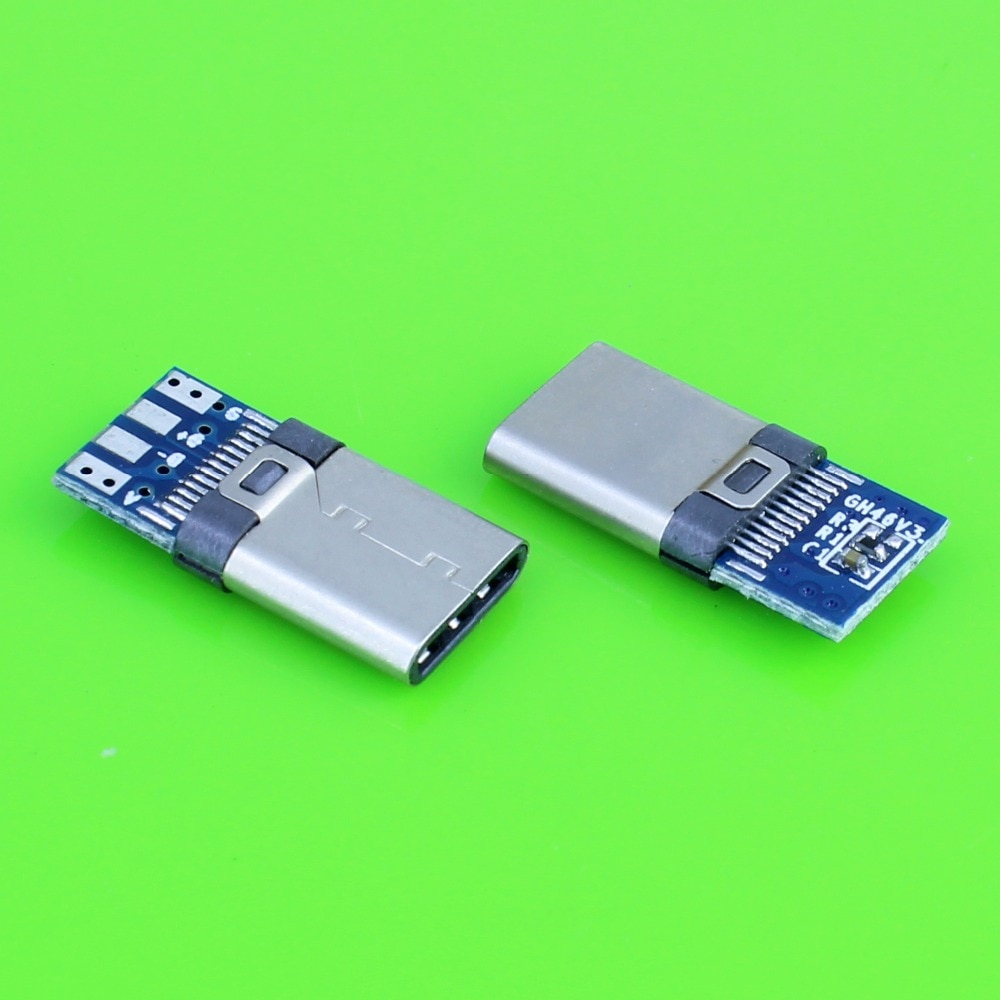 DIY 24pin USB 3,1 tipo C USB-C macho soldadura conector de clavija tipo SMT