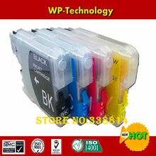 Complet recharge cartouche costume pour LC39 LC985, costume pour frère DCP-J125 J315W J515W MFC-J265W J410 J415W J220 etc