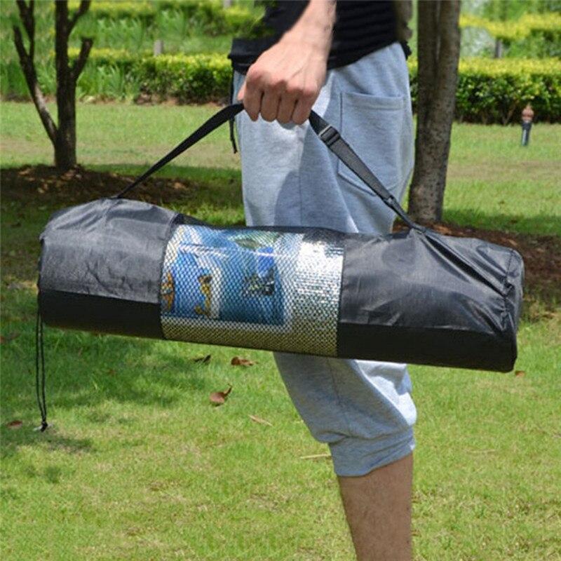 1 ud. De esterilla de Yoga ajustable, bolsa de gimnasio con bolsillos laterales, portador impermeable, mochila de Nylon resistente de algodón para Yoga, correa de transporte con cordón
