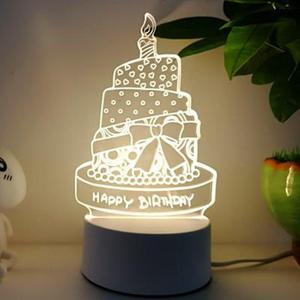 Lamparas De Mesa 3D Table Lamps For Living Room 3 color change desk lamp Christmas gifts for children led 3D night lights