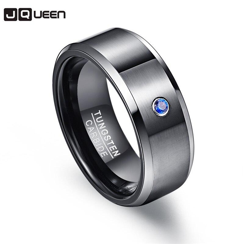Pierscienie 6mm anillo de hombre 100% de carburo de tungsteno zirconio negro bandas de boda Boyfriend Anillos para hombres