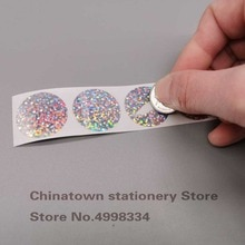 """100pcs 1""""Inch Round Dot laser Scratch Off Stickers Labels Tickets Promotional Games"""