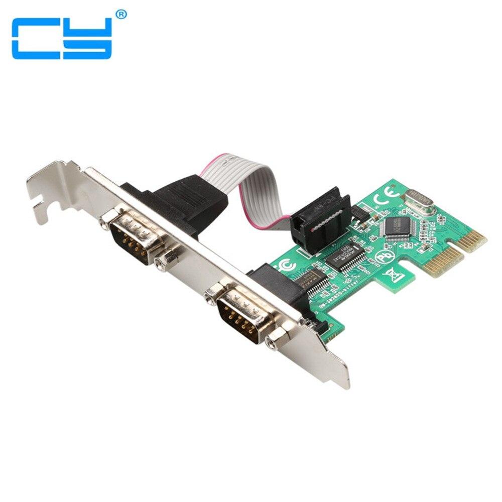 Minicontrolador PCI-E PCI Express, Controlador de 2 puertos, Adaptador de cargador Verde...