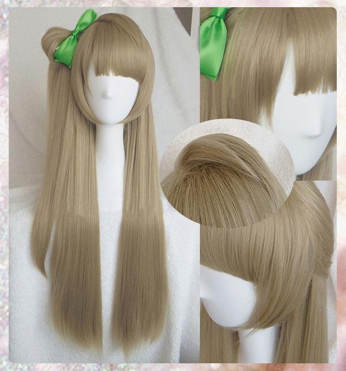 High Quality Anime LoveLive! Love Live Kotori Minami Wig Halloween Hair Cosplay Costume Wigs + Green