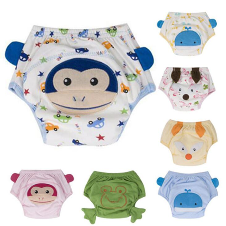 1Pcs Baby Training Pants Cotton Reusable Baby Diapers Waterproof Cloth Nappies Washable Diapers Bamboo Learning Pants