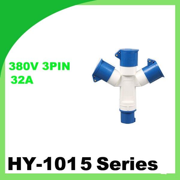 قابس ومقبس صناعي بـ 380 فولت 32A ذو ثلاث دبابيس IP44