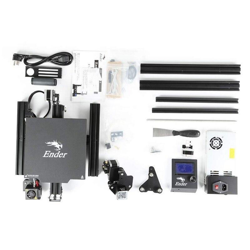 Creality 3d Ender-3 pro kit de impressora 3d, chassi de fundo para impressora 3d com extrusora mk10, bico de 1.75mm, 0.4mm kit diy diy,