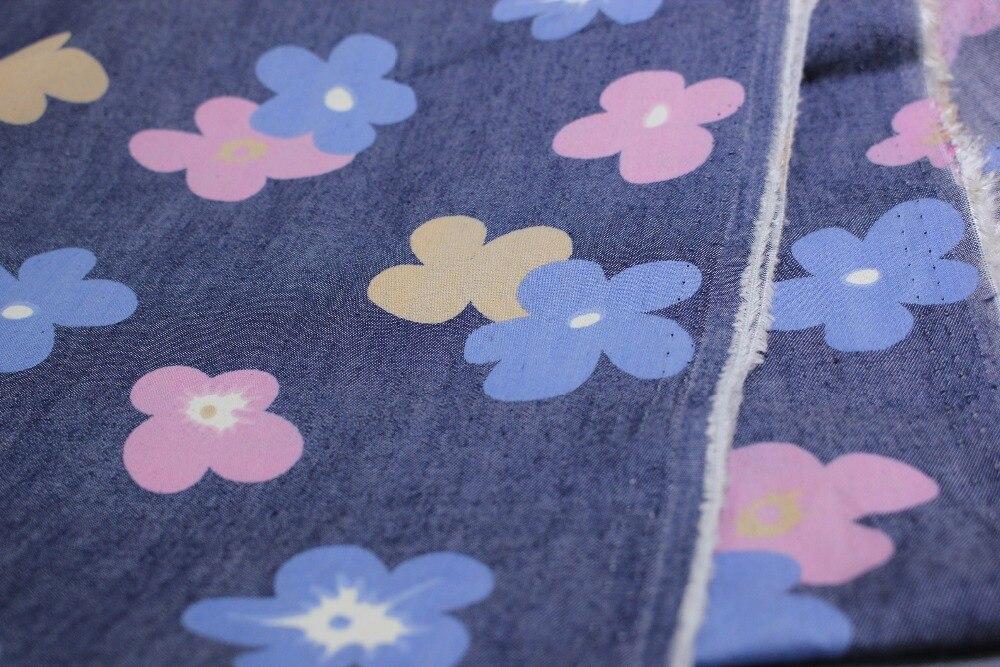 Venda direta flor printting Denim F197 #