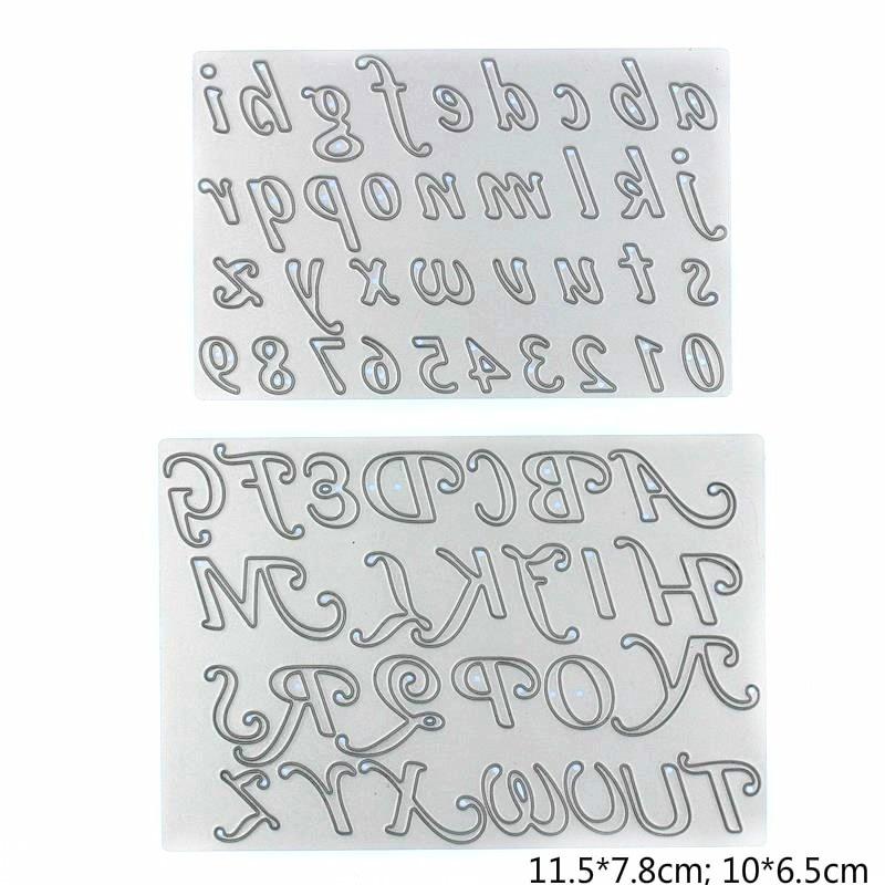 Troqueles de corte de Metal con letras florecientes, plantilla para álbum de recortes DIY, tarjetas de papel de grabado, artesanías decorativas, troqueles