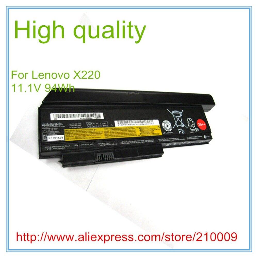 Calidad Original nueva batería del ordenador portátil para X220 X220I X220S 42T4866 0A36283 42T4872 42T4942 94WH 29 + + 9 CELL