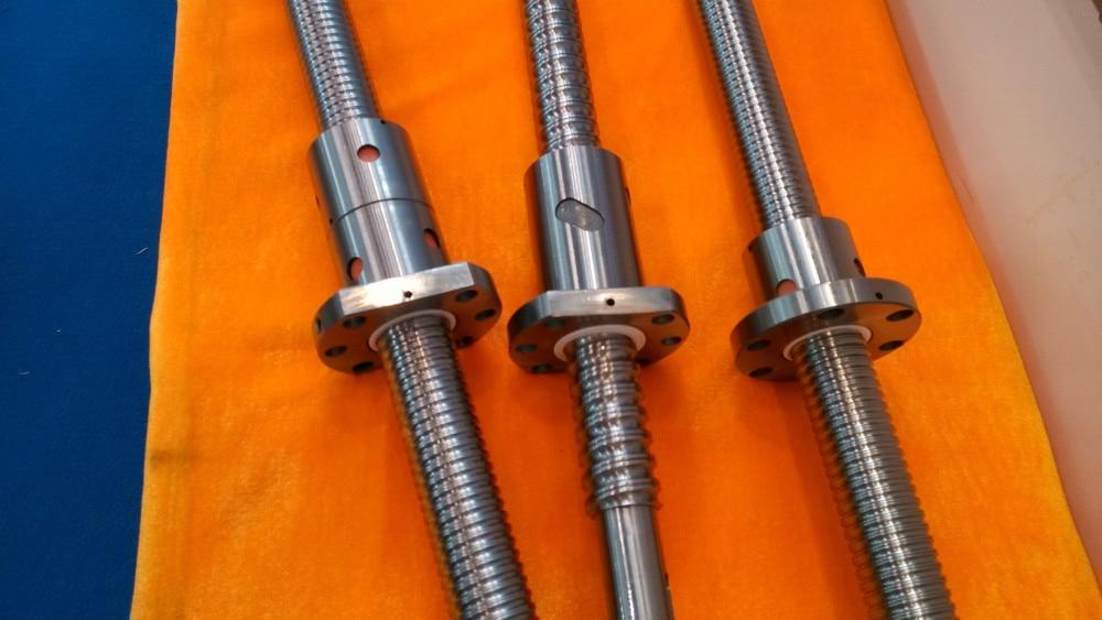 3pcs ball screw RM1605 -L300/400/500mm-C7 +3pcs 1605 single nut+end machined+3sets BK/BF12 end bearings