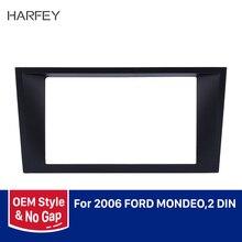 Harfey Stunning 2 Din Fascia Dash Kit Car GPS Radio Stereo Frame Panel Adaptor Trim Bezel 173*98/178*100mm For 2006 Ford Mondeo