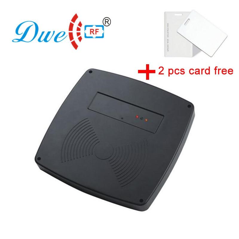 Lector de tarjetas de control de acceso DWE CC RF 125khz lector de largo alcance de estacionamiento de coche lector de rango medio 125khz rfid lectores rs232