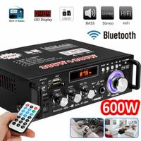 Hot Channel 600W Audio Power HiFi Amplifier 326BT 12V/220V AV Amp Bluetooth Speaker with Remote Control for Car Home