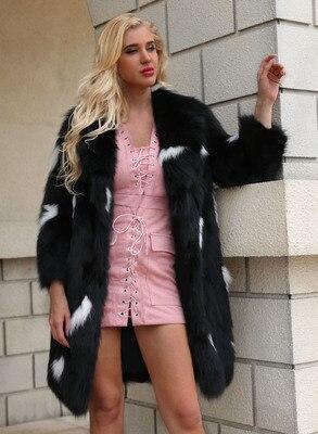 Women New Free Shipping Fashion Faux Fur Coat MT0698