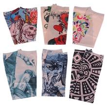 1 par de calentadores de brazo Unisex de moda Mangas de tatuaje protección UV al aire libre temporal tatuaje falso brazo manga más caliente Mangas