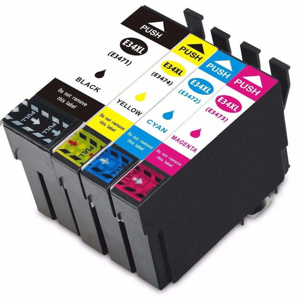 Cartucho de tinta Compatible con Vilaxh para T3471 T3474 Compatible con Epson WorkForce Pro WF-3720DWF/3725DWF