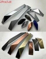 2Pcs/lot Premintehdw New concise diamond design zinc furniture cabinet cupboard closet drawer pull handle hardware