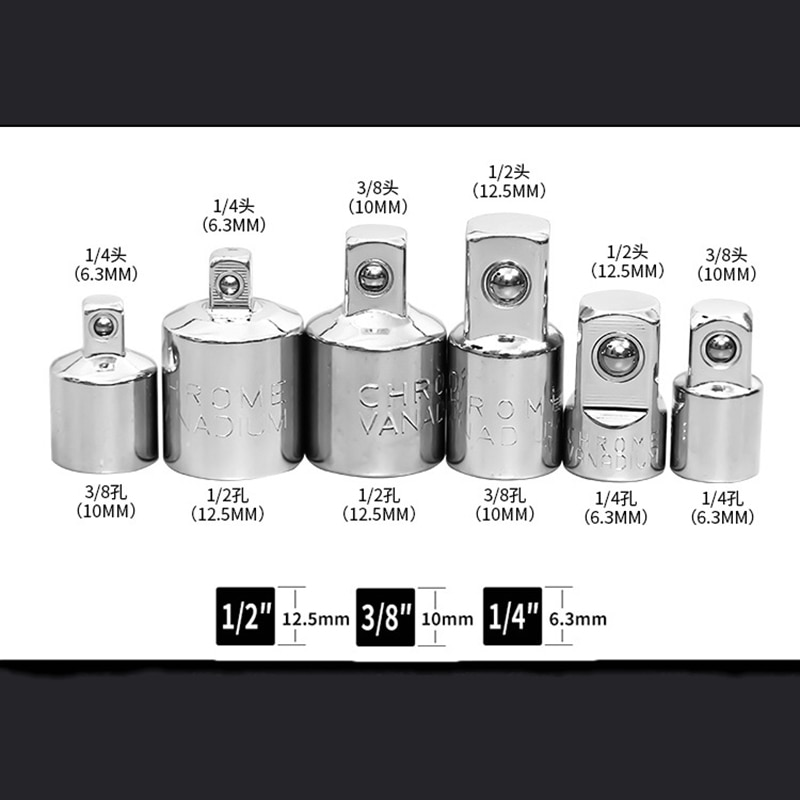 CRV wrench hand Craftsman Air Impact Socket Wrench Adapter Ratchet Drive Socket Converter Reducer 1/4 3/8 1/2 Hand Tools недорого