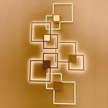 Zerouno appliques intérieur TV fond lumière éclairage de mur led minimaliste art décor appliques décoration de la maison mur lampada luz