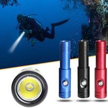 DIV12S 10W 1050LM XM-L2 U4 LED Tauchen Taschenlampe Unterwasser 200 Meter mit 10 Grad Scheinwerfer Wasserdichte Schalter für Tauchen
