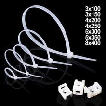 100 pcs 50 pcs 3*100/150 4*200/250 5*300/350 8*400 Netwerk Draad Nylon Plastic Self-locking Cable Zip Tie