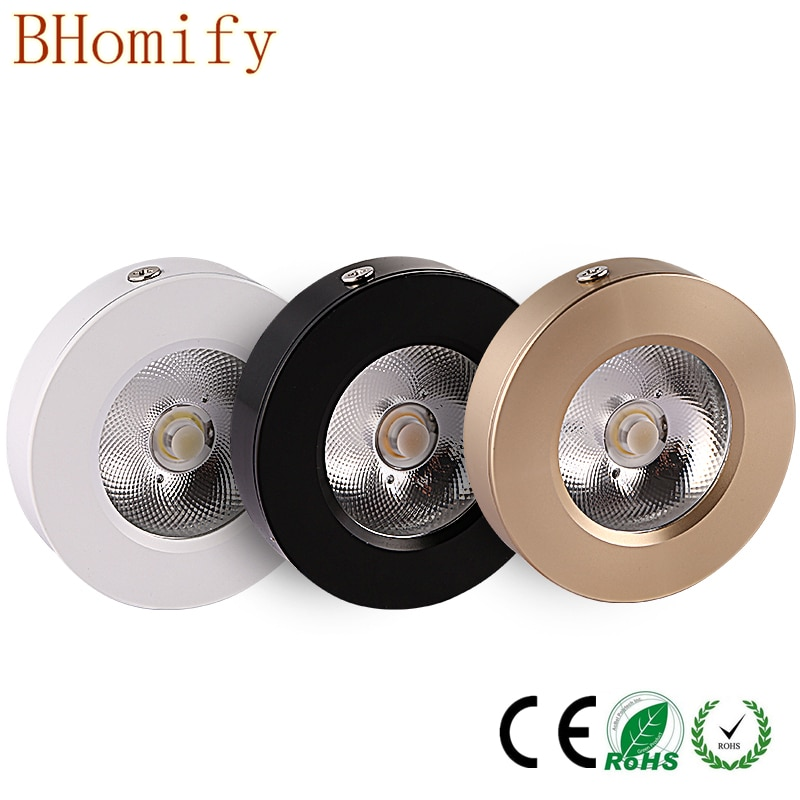 Led cob downlight spot light Ultrathin surface mounted  lamp bulbs 3w 5w 7w 10w 15w 220V ceiling recessed Lights Indoor Lighting