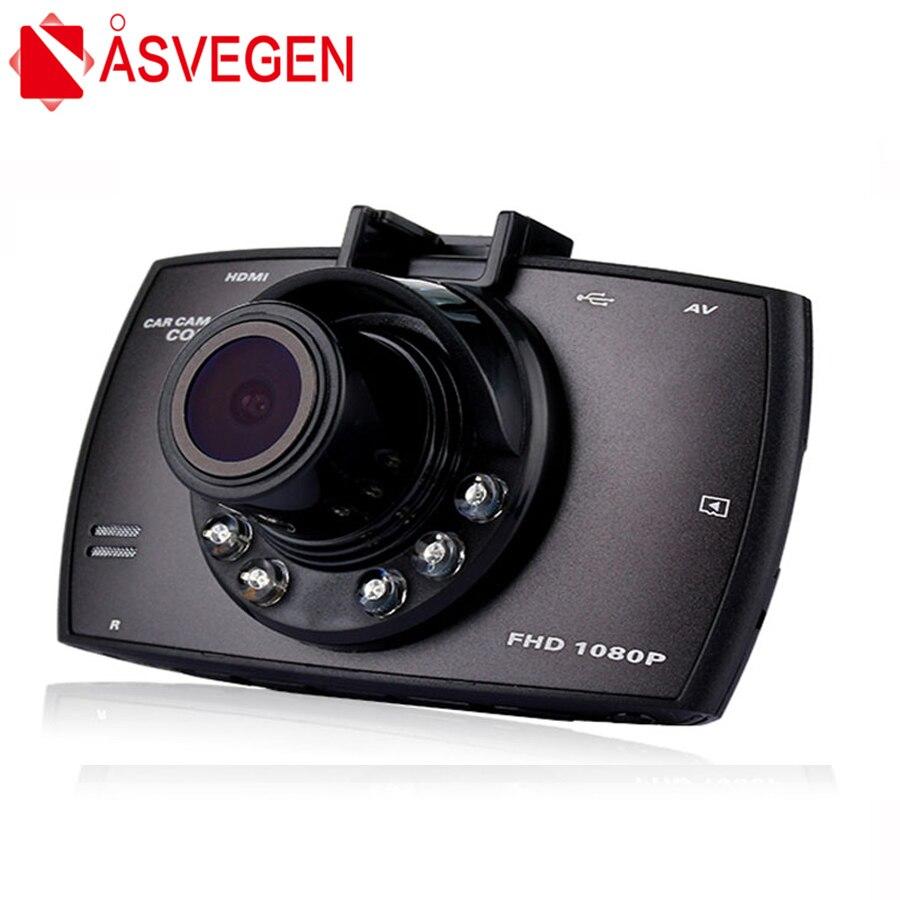 "Asvegen Full HD 1080 P del coche DVR de la leva de La rociada cámara de doble lente 2,7 ""Dash Cámara WDR Video grabadora G -Sensor de visión nocturna DVR Corder"