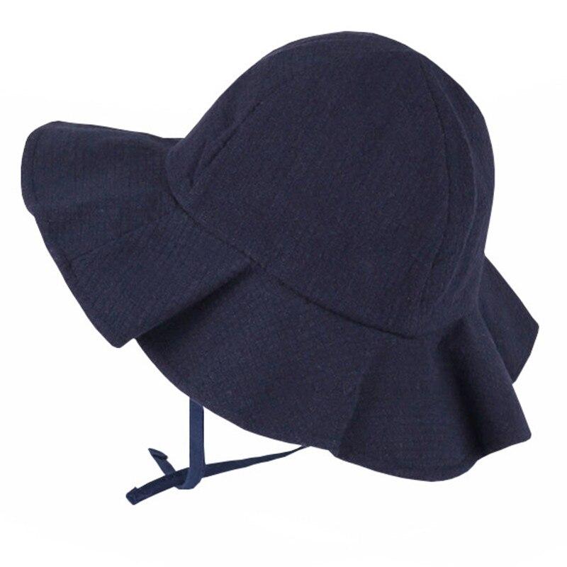 Fashion Summer Baby Girls Sun Hats Solid Color Cotton Children Bucket Hat Summer Sun Cap for Boy Child Casual Cap Kids Beach Cap