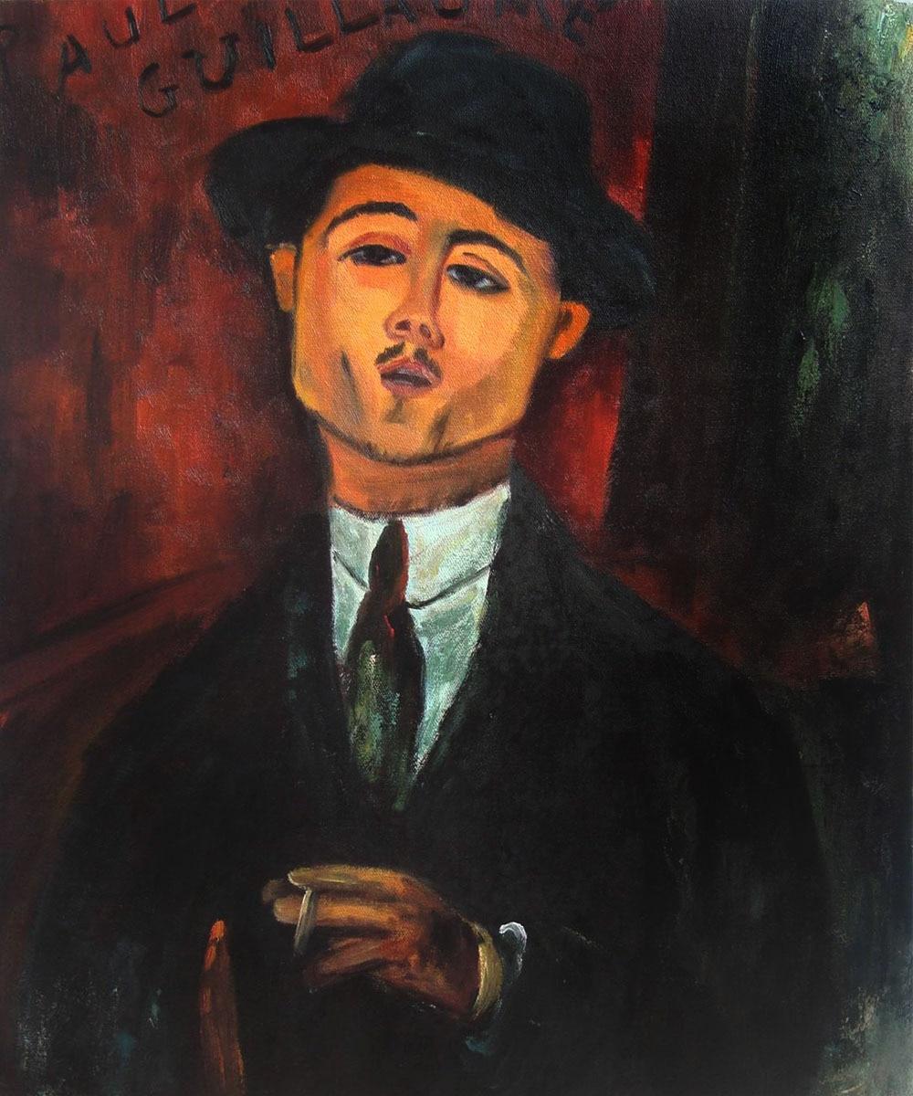 Pintado a mano Pintura Al Óleo Abstracta moderna sobre lienzo arte Paul Guillaume de Amedeo Modigliani reproducciones al óleo famosas