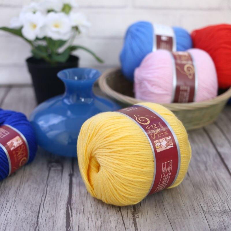 9628 Senna lana suave hilo de tejer lana gruesa hilo para bufanda suéter B gratis