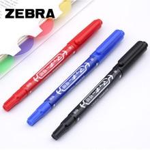 Small Double-headed ZEBRA marker pen Two written lines Mark Oily Optical Disc Glass Ceramic plastic marker